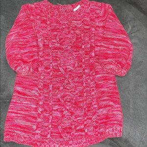 Pink & white Sweater dress. This is the cutest!